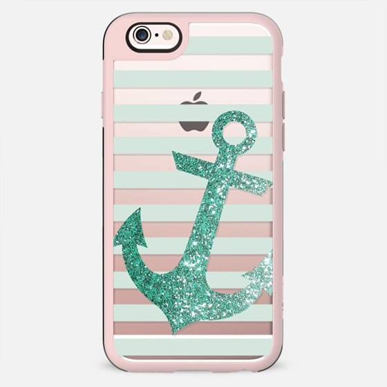 Glitter Anchor in Mint - New Standard Case