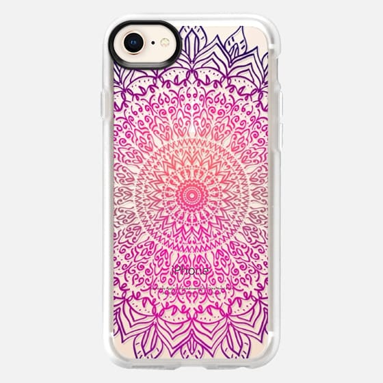 HAPPY BOHO MANDALA - CRYSTAL CLEAR PHONE CASE - Snap Case