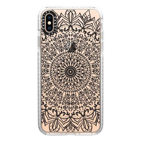 iPhone XS Max Cases - BLACK BOHO MANDALA