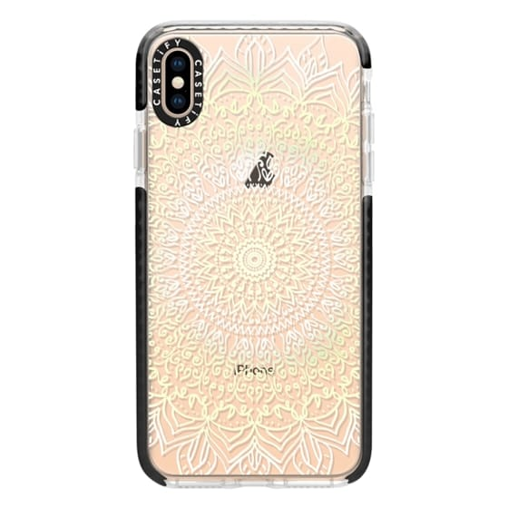 iPhone XS Max Cases - BOHO MANDALA IN PASTEL YELLOW AND WHITE- PHONE CASE