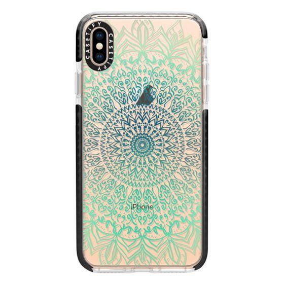 iPhone XS Max Cases - TEAL BOHO MANDALA