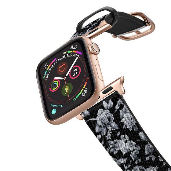 Apple Watch 42mm Bands - VINTAGE FLOWERS IN BLACK - APPLE WATCH