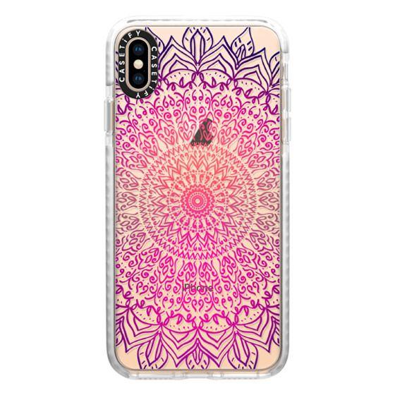 iPhone XS Max Cases - HAPPY BOHO MANDALA - CRYSTAL CLEAR PHONE CASE