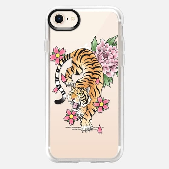 TIGER & FLOWERS - Snap Case
