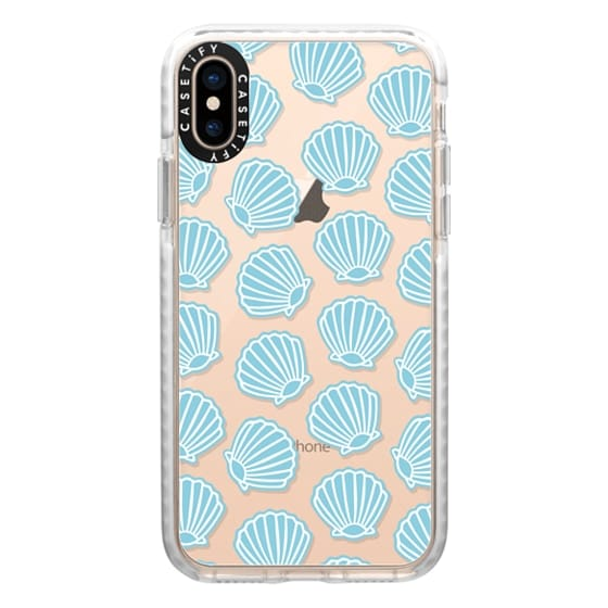 iPhone XS Cases - BLUE CLAM SHELLS