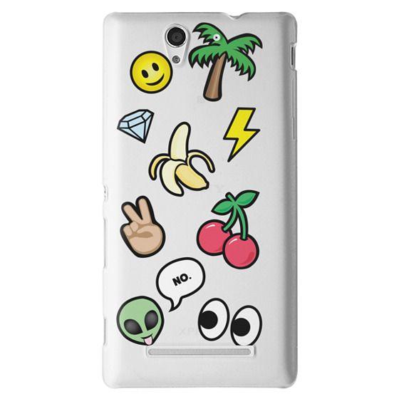 Sony C3 Cases - EMOTICONS