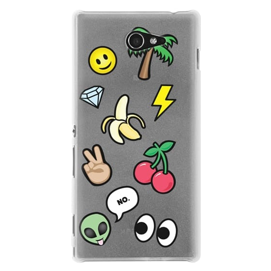 Sony M2 Cases - EMOTICONS