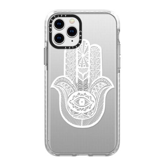 iPhone 11 Pro Cases - WHITE HAMSA