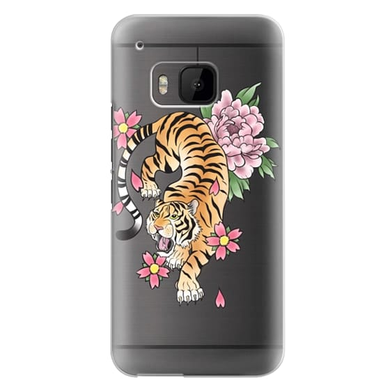 Htc One M9 Cases - TIGER & FLOWERS