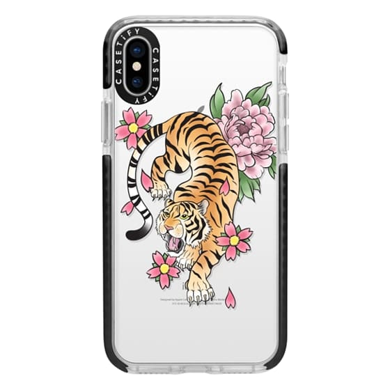 iPhone X Cases - TIGER & FLOWERS