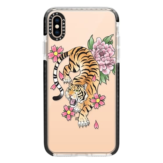 iPhone XS Max Cases - TIGER & FLOWERS