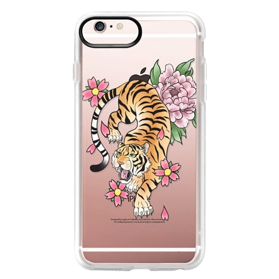 iPhone 6s Plus Cases - TIGER & FLOWERS