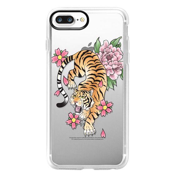 iPhone 7 Plus Cases - TIGER & FLOWERS