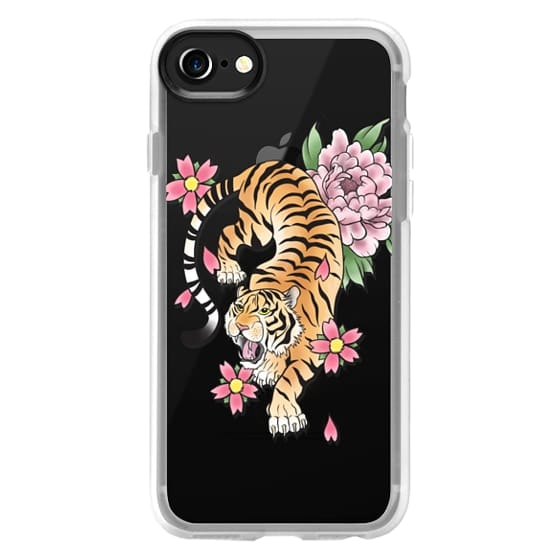 iPhone 4 Cases - TIGER & FLOWERS