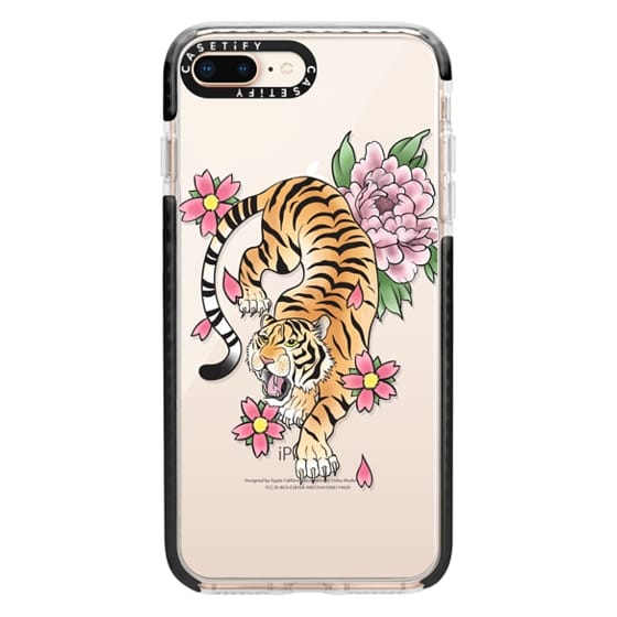iPhone 8 Plus Cases - TIGER & FLOWERS