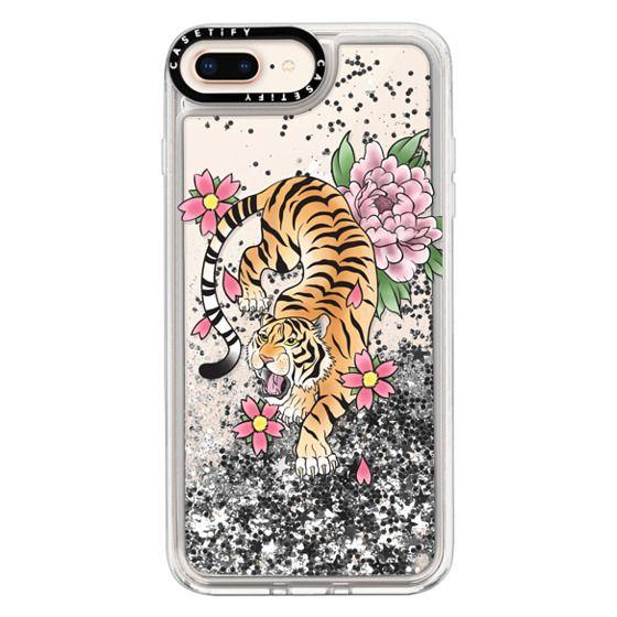 iPhone 8 Plus Cases - TIGER & FLOWERS