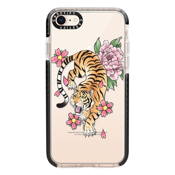 iPhone 8 Cases - TIGER & FLOWERS