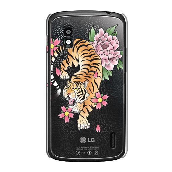 Nexus 4 Cases - TIGER & FLOWERS