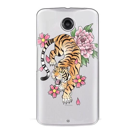 Nexus 6 Cases - TIGER & FLOWERS