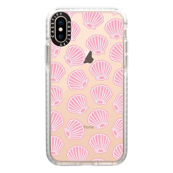 iPhone XS Cases - PINK CLAM SHELLS