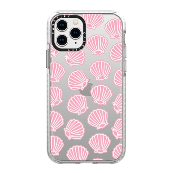 iPhone 11 Pro Cases - PINK CLAM SHELLS