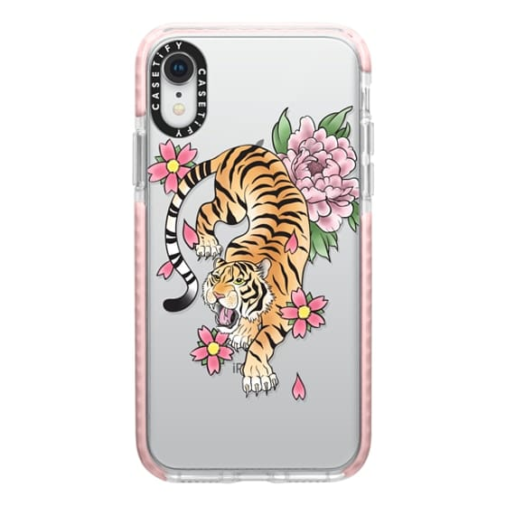 iPhone XR Cases - TIGER & FLOWERS