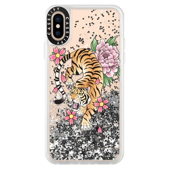 iPhone XS Cases - TIGER & FLOWERS