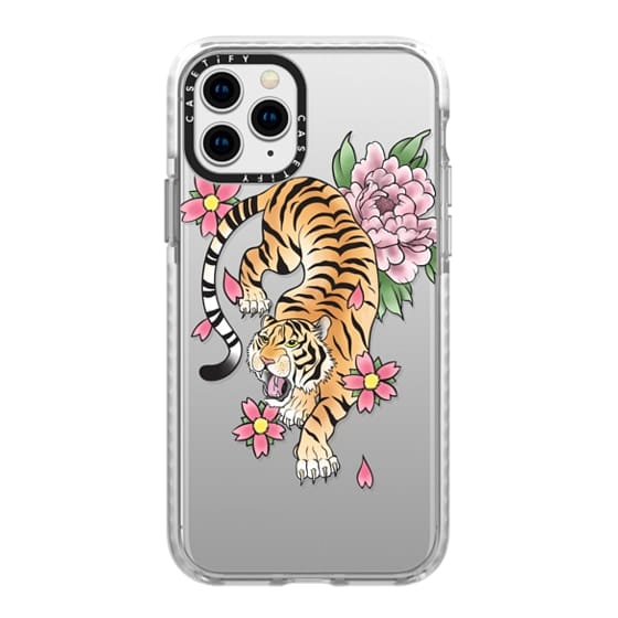 iPhone 11 Pro Cases - TIGER & FLOWERS