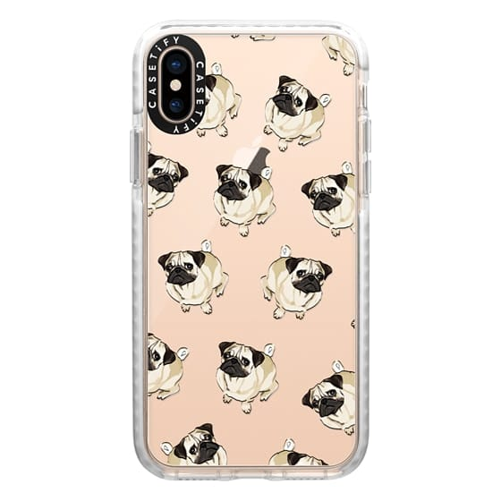 iPhone XS Cases - PUG PATTERN
