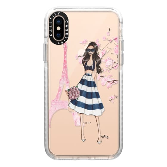 iPhone XS Cases - Printemps a Paris (Brunette)