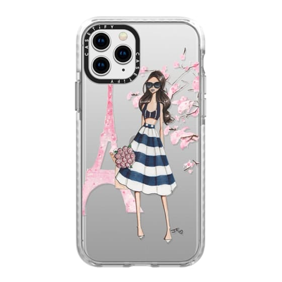 iPhone 11 Pro Cases - Printemps a Paris (Brunette)