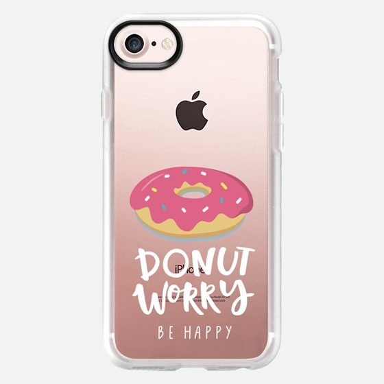 don't worry be happy with donut - Classic Grip Case