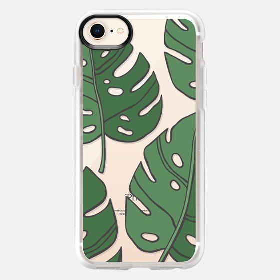 tropical leaf print - Snap Case