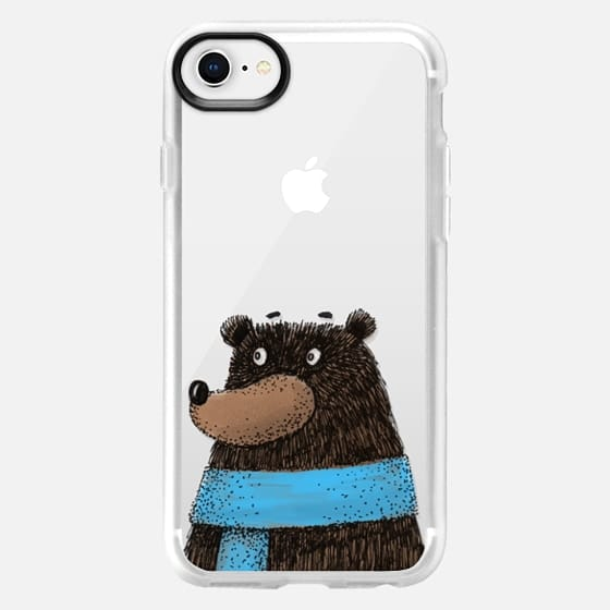 Love winter. Happy cute cartoon bear - Snap Case