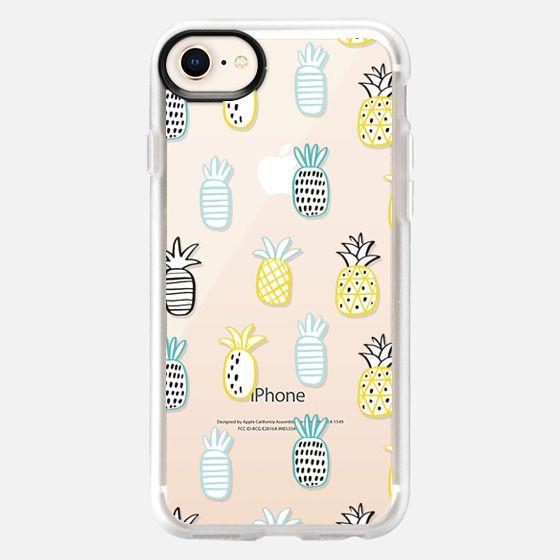 pineapple hand drawn print - Snap Case