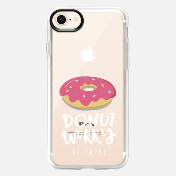 don't worry be happy with donut - Snap Case