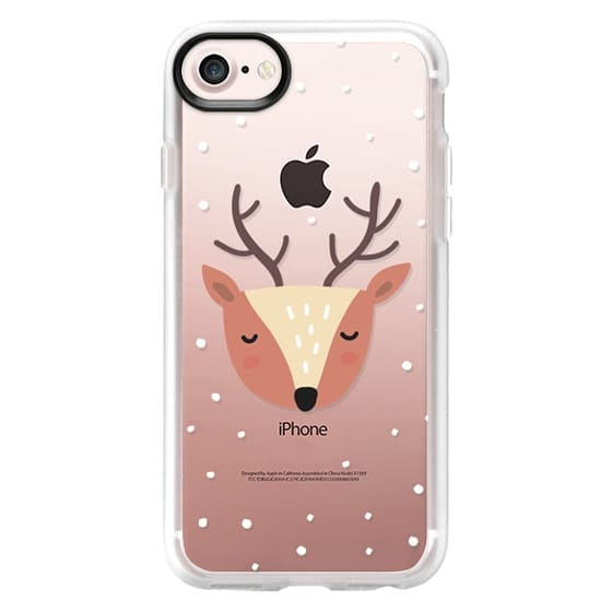 iPhone 7 Cases - Merry Christmas and Happy Holidays. Cute deer