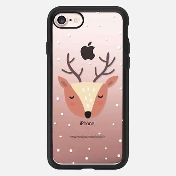 Merry Christmas and Happy Holidays. Cute deer -