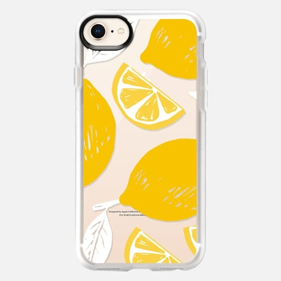 Hand Drawl lemon summer print - Snap Case