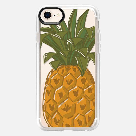 Hand Drawn pineapple. Fresh fruit print. Hello summer - Snap Case