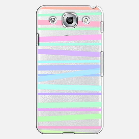 Pastel Rainbow Stripes - Transparent/Clear Background