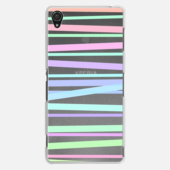 Pastel Rainbow Stripes - Transparent/Clear Background