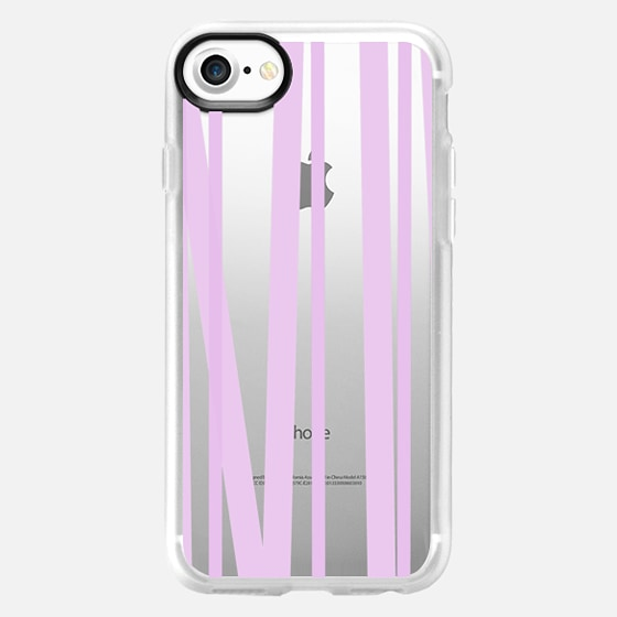 Lavender Stripes - Transparent/Clear background -