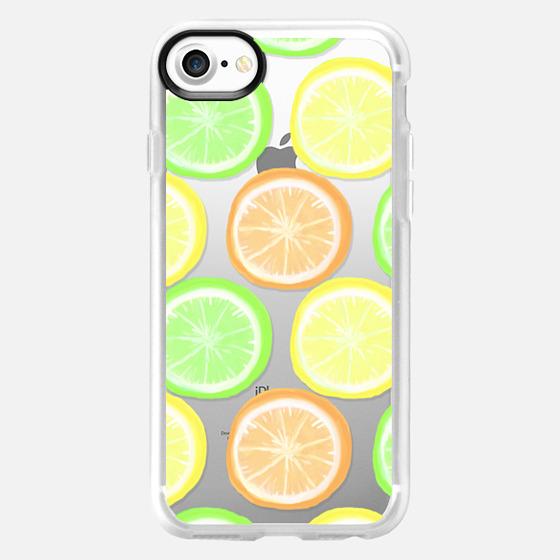 Citrus Wheels - Transparent/Clear Background - Wallet Case