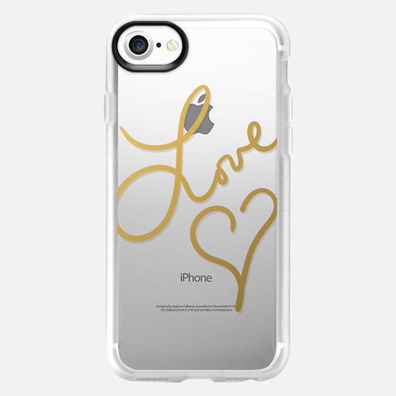 Love Beat (transparent) - Wallet Case
