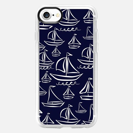 Sail Away (deep blue) - Wallet Case