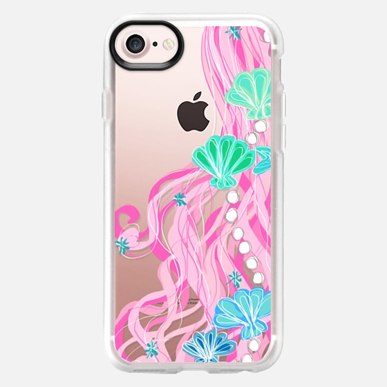 Mermaid Hair Bubbly Pink - Wallet Case