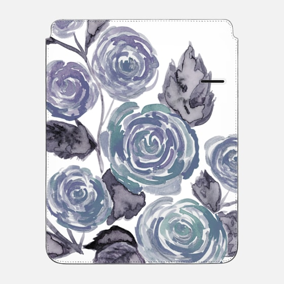 Heathered Gray Floral - iPad Pro Sleeve