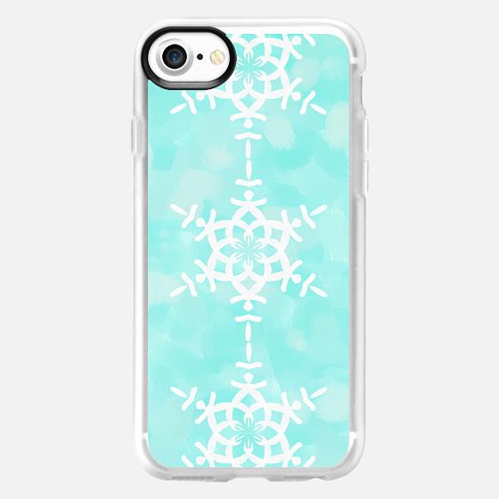 Snowflake - Aqua Blue -