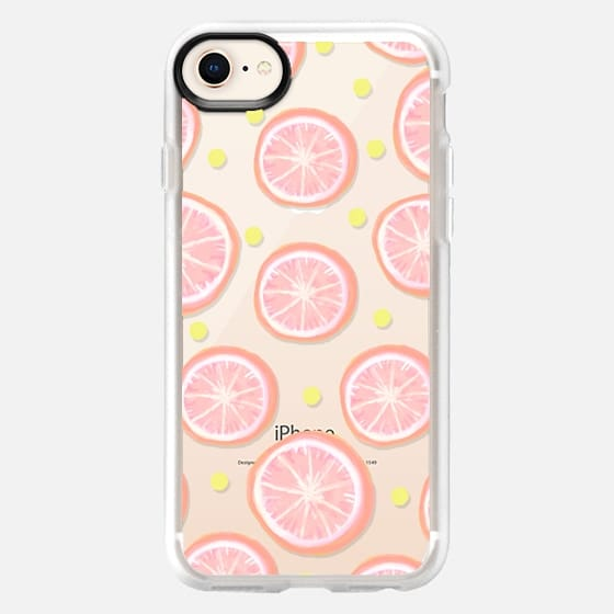 Pink Grapefruit and Dots - Snap Case
